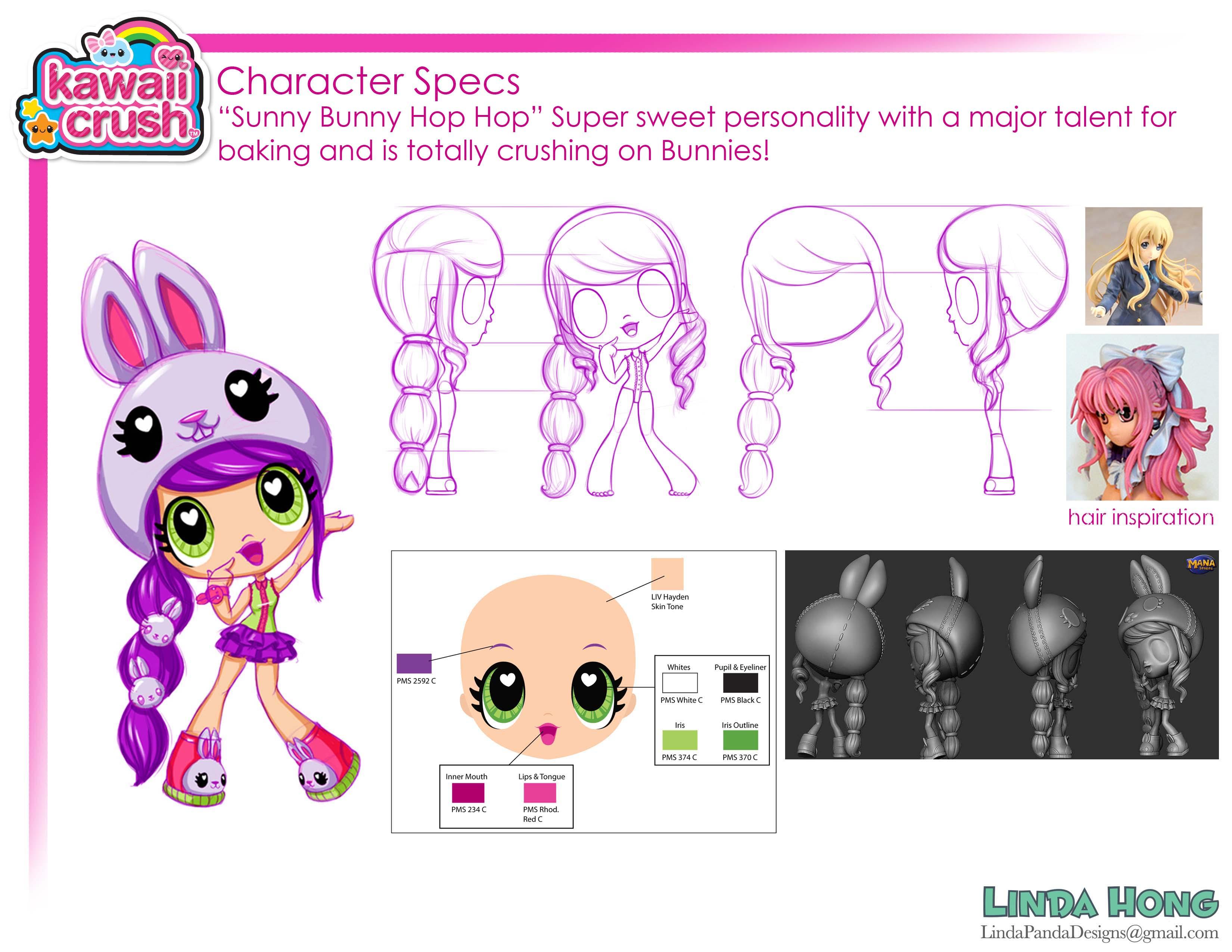 Sunny Bunny Hop Hop Character specs