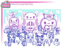 Kawaii Crush World Sketch