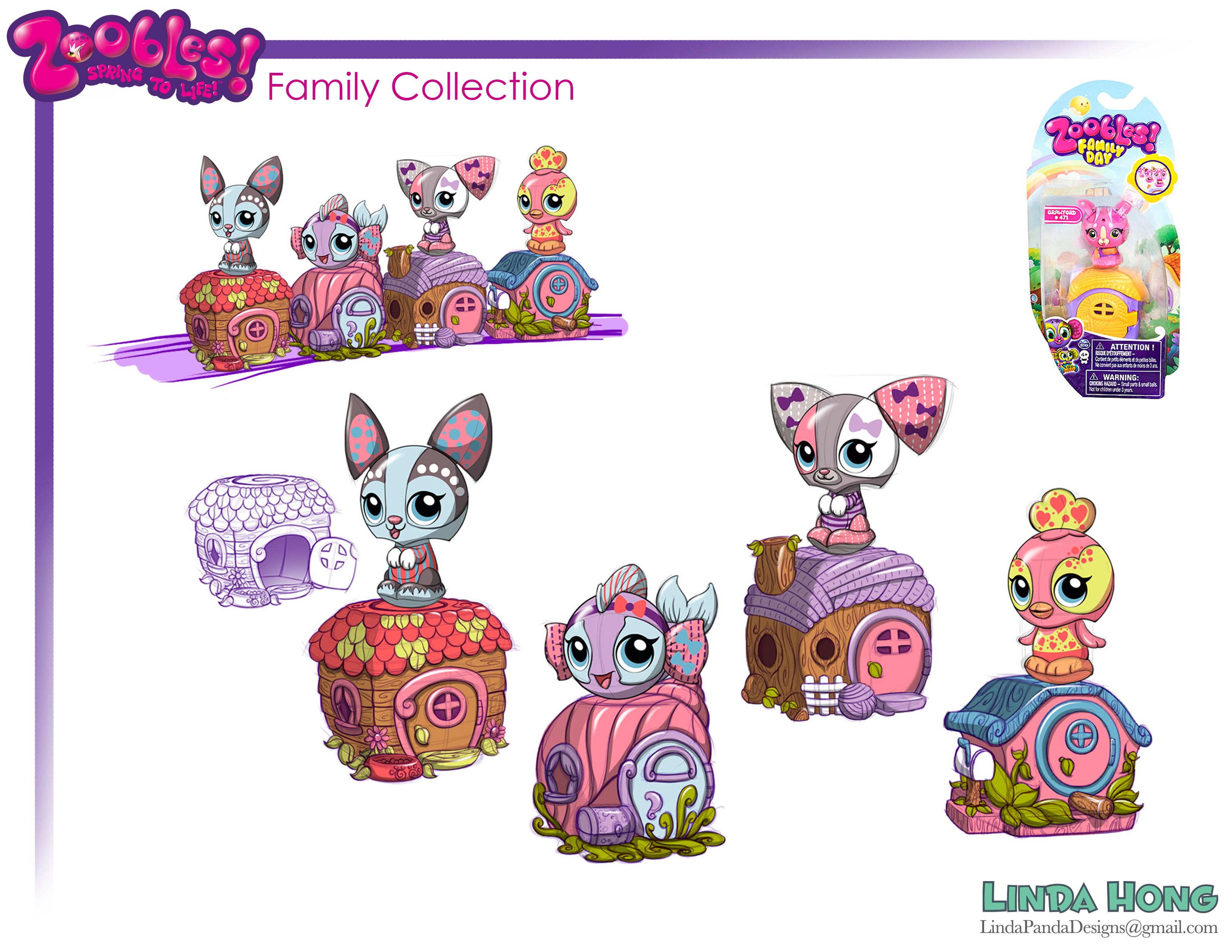 Zoobles Family Collection