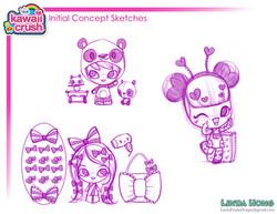 Kawaii Crush Initial Concept Sketch