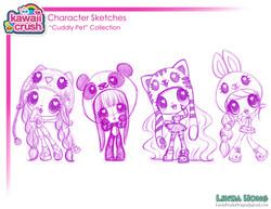 Kawaii Crush Refined Doll Sketches!