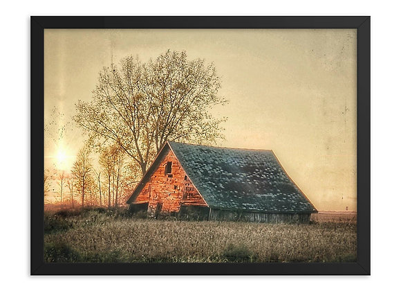 Light Pillar Barn Framed Matte
