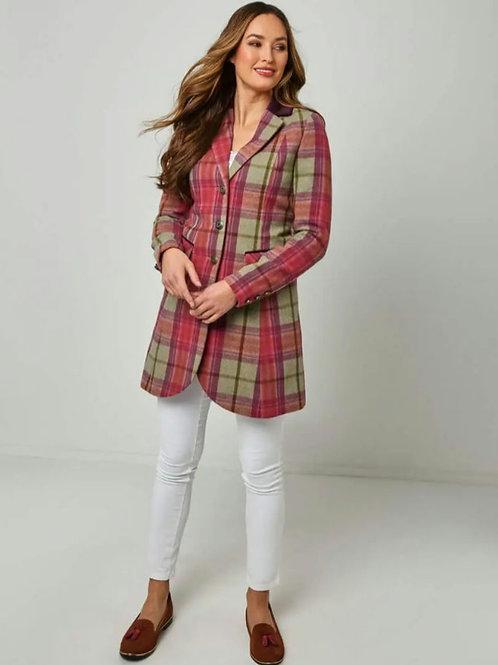 Check longline jacket
