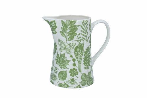 Garden study bone china jug