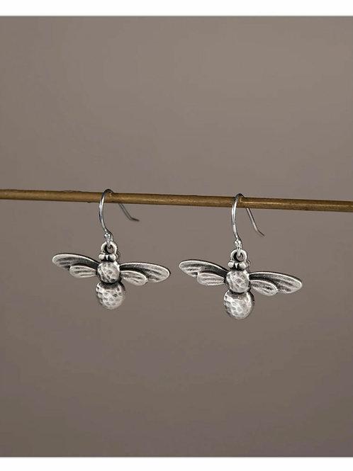 Mini bee drop earrings