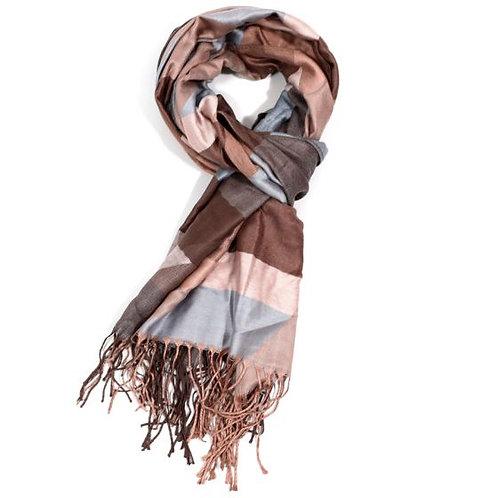 Square print scarf (pashmina)