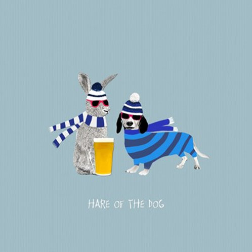Hare of the dog- greetings card