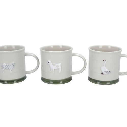 Animal mini mugs - 3 assorted (80423)