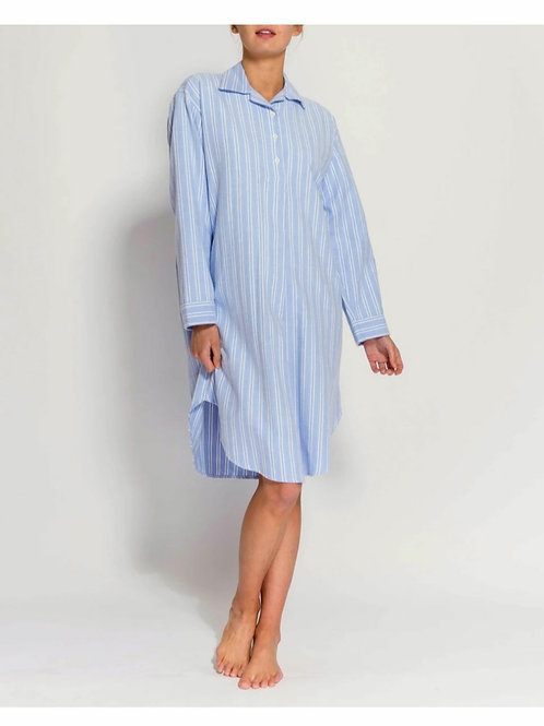 Blue & white westwood stripe ladies nightshirt