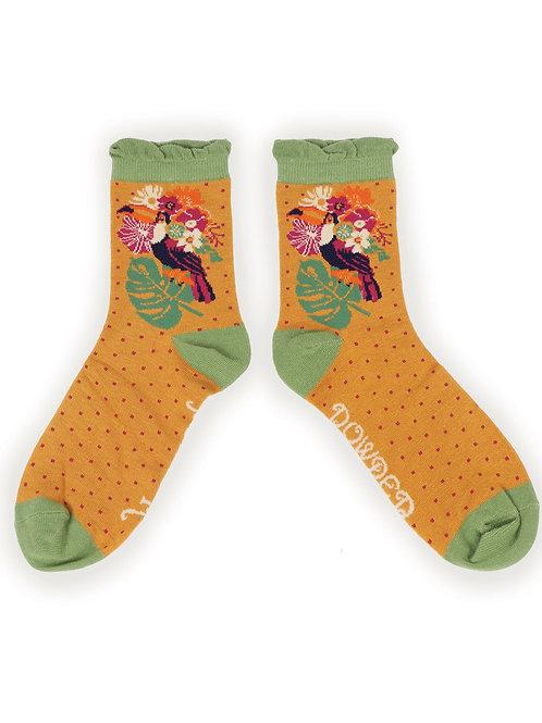 Toucan ladies ankle socks