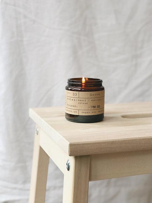 Grove candle jar