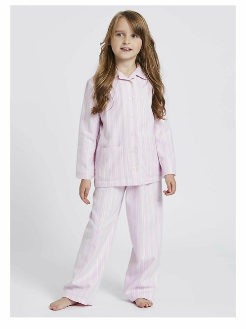 Children's pink & white westwood stripe pyjama set