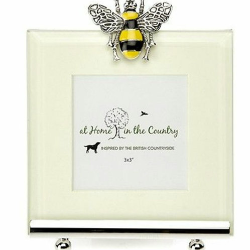 Coloured bee enamel picture frame