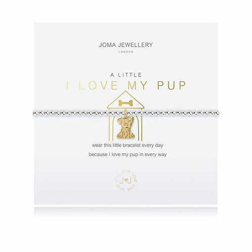 A little I love my pup bracelet (3790)