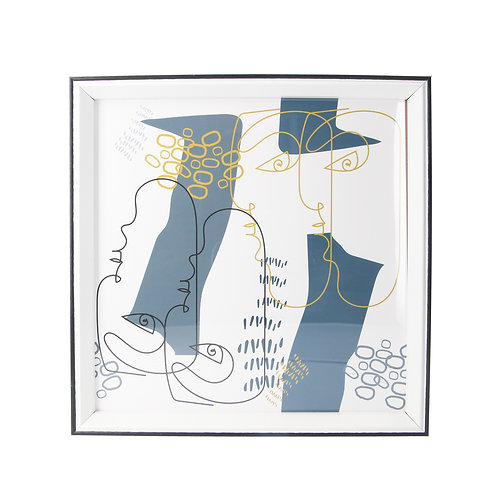Abstract faces framed print