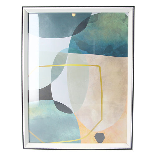 Abstract geo framed print large