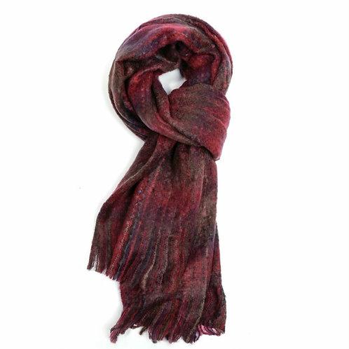 Chunky knit tartan winter scarf