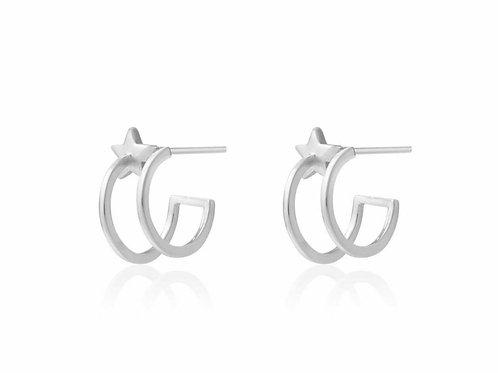 Estelle star double hoop earring