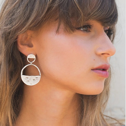 Inner circle two piece earrings
