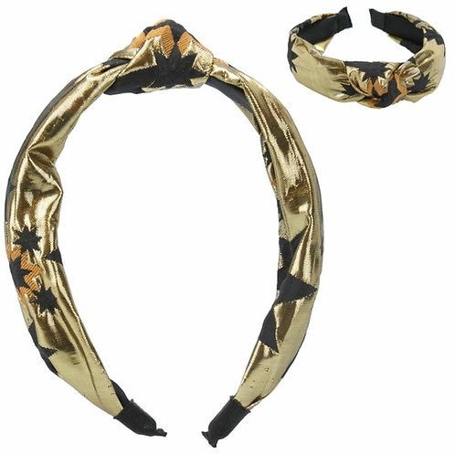 Gold star jacquard headband
