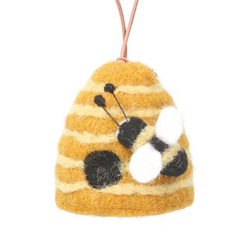 Beehive bee decoration