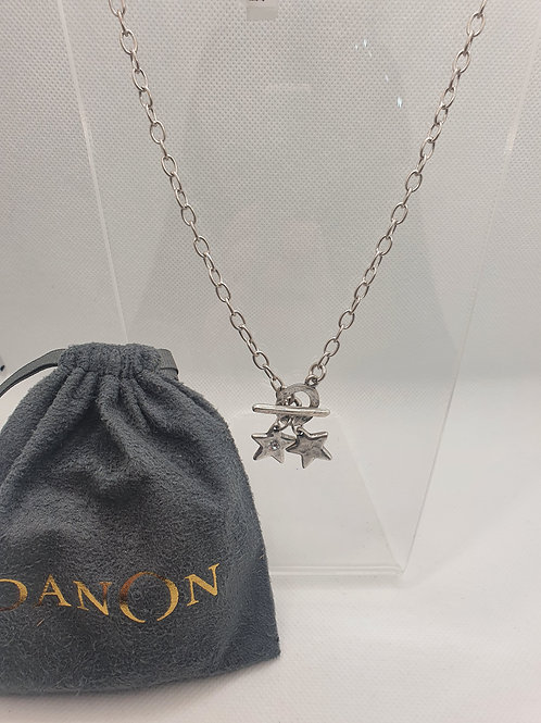 Double star T-bar necklace