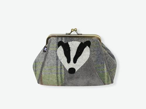 Grey badger tweed lara purse