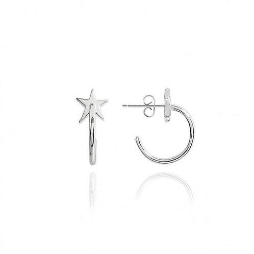 Cosmic hoop earrings