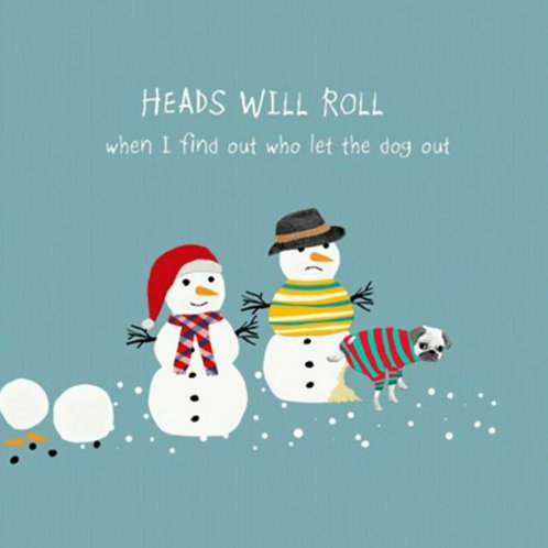 Heads will roll - Christmas card