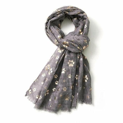 Rose gold paw print scarf