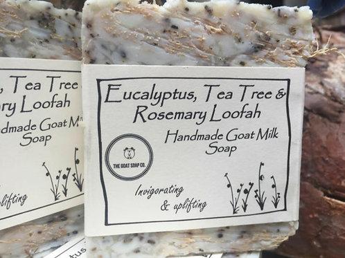 Eucalyptus, tea tree & rosemary goat milk soap