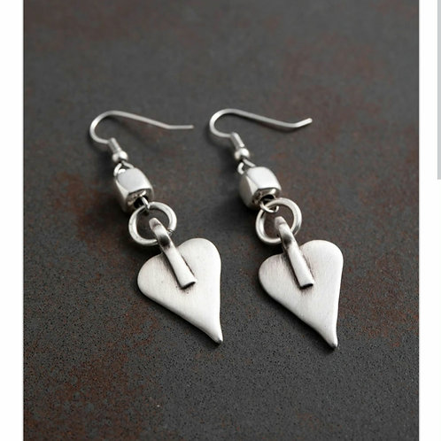 Signature heart and cube earrings