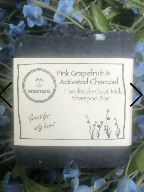 Pink grapefruit & charcoal goat milk shampoo bar