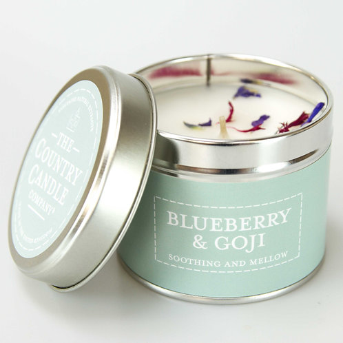 Blueberry and goji tin candle- pastels collection