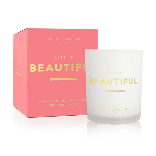 Life is beautiful candle
