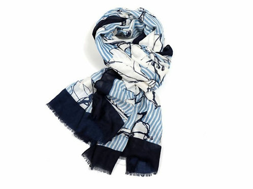Silver lillies scarf
