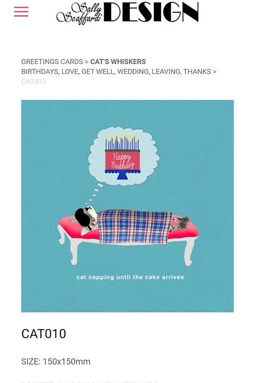 Cat napping- greetings card