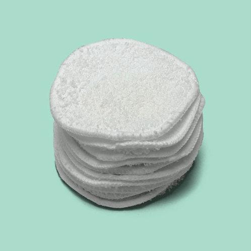 Organic reusable eye make-up removal pad
