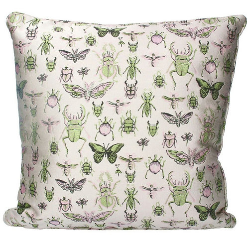 Insects jacquard cushion