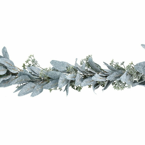 Frosted eucalyptus leaf garland (41016)