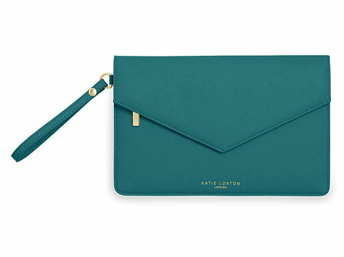 Esme clutch-  time to shine - forest green