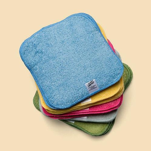 Premium washable terry baby wipes