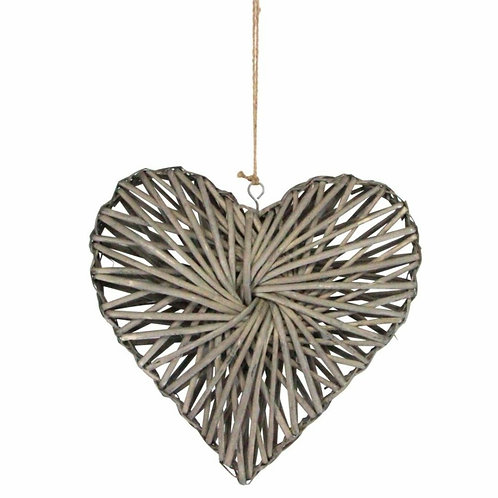 Hanging willow heart ornament