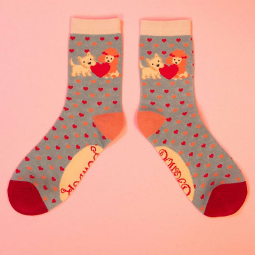 Puppy love ankle socks