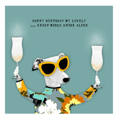 Great minds drink alike -Greeting Card