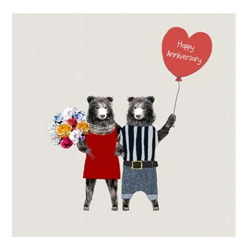 Anniversary bears -Greeting Card
