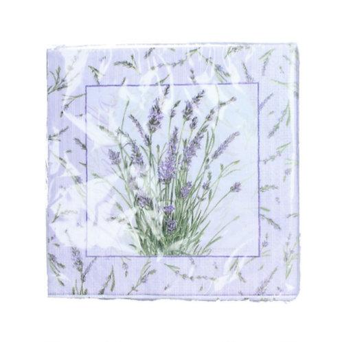 Lavender sprig napkins