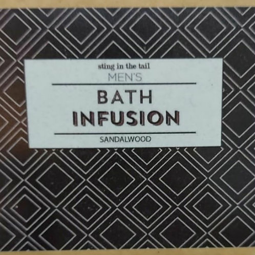 Men's sandalwood bath infusion