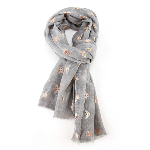 Rose gold bees scarf