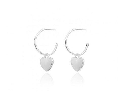 Belle heart hoop earrings